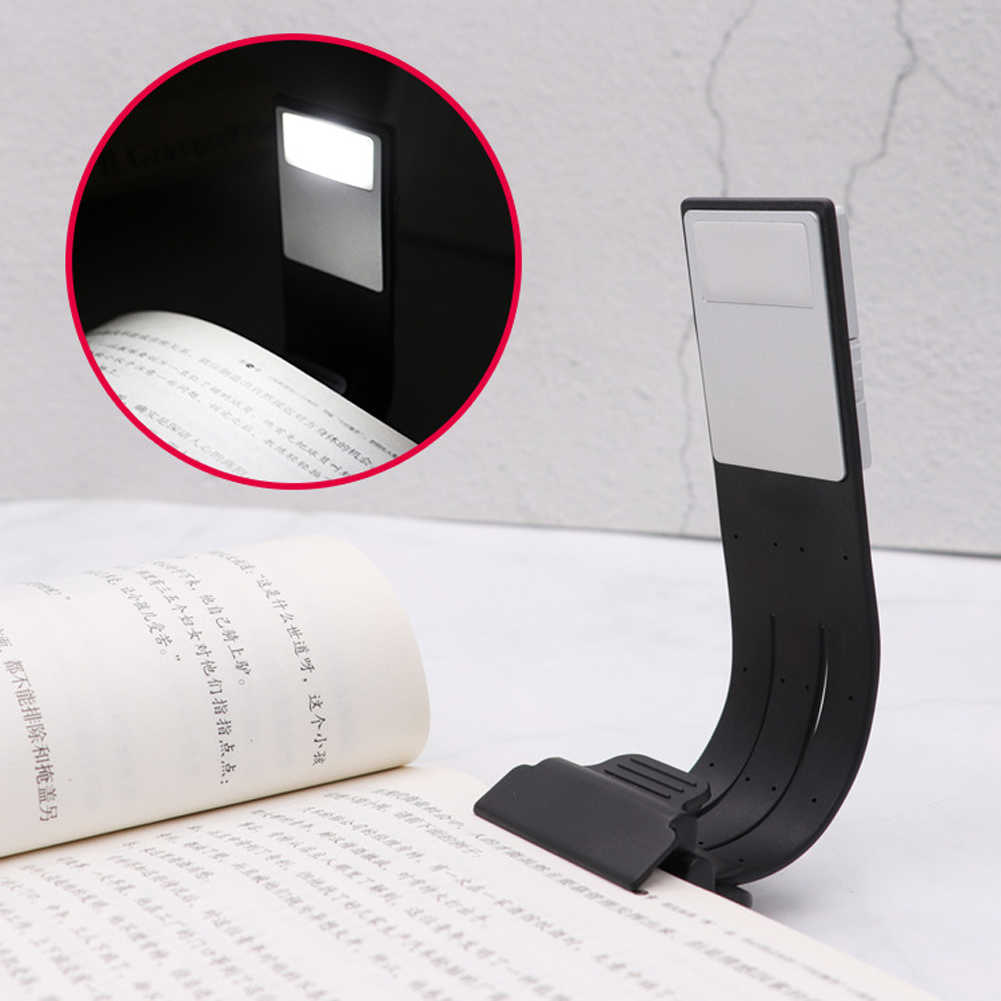 Double Pole LED Reading Light 4 LEDs Adjustable Goosenecks Clip On LED Lamp  For Music Stand Book Reading And Piano Laptop Read