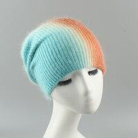 מכירה לוהטת חורף כובע אופנה צבעים טלאי היפ הופ כובעי ארנב פרווה כובע אופנה חם בימס לנשים גברים
