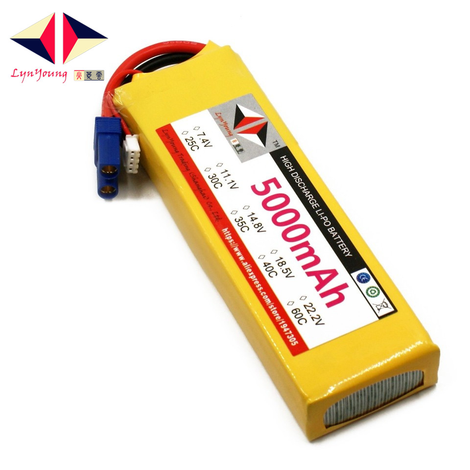 <font><b>11.1V</b></font> <font><b>5000mAh</b></font> 25C 30C 35C 40C 60C 3S <font><b>Lipo</b></font> <font><b>Battery</b></font> For RC Boat Car Truck Drone Helicopter Quadcopter Airplane UAV image