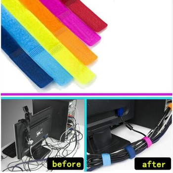 USB Cable Winder Cable Organizer Ties Mouse Wire Earphone Holder HDMI Cord Free Cut Management Phone Hoop Tape Protector image