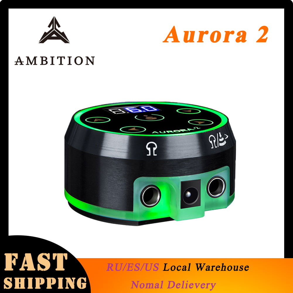 Ambition Professional tattoo power Supply <font><b>Aurora</b></font> 2 Source Touch Screen Upgrade Digital LCD New Mini LED Touch Pad fonte Supplies image