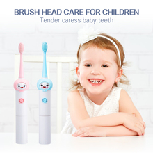 Children Automatic Electric Toothbrush No Rechargeable Cartoon IPX7 Waterproof Ultrasonic Tooth Brush Replacement Brush Head