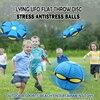Flying UFO Flat Throw Disc Ball Outdoor Garden Basketball Sports Game Beach Antistress Fidget Toy Kids Catch Throw Ball