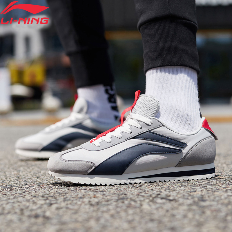 (Break Code)Li-Ning <font><b>Men</b></font> 3KM Classic Leisure <font><b>Shoes</b></font> Retro Lifestyle <font><b>Shoes</b></font> <font><b>LiNing</b></font> li ning Sport Light Sneakers AGCP079 YXB315 image