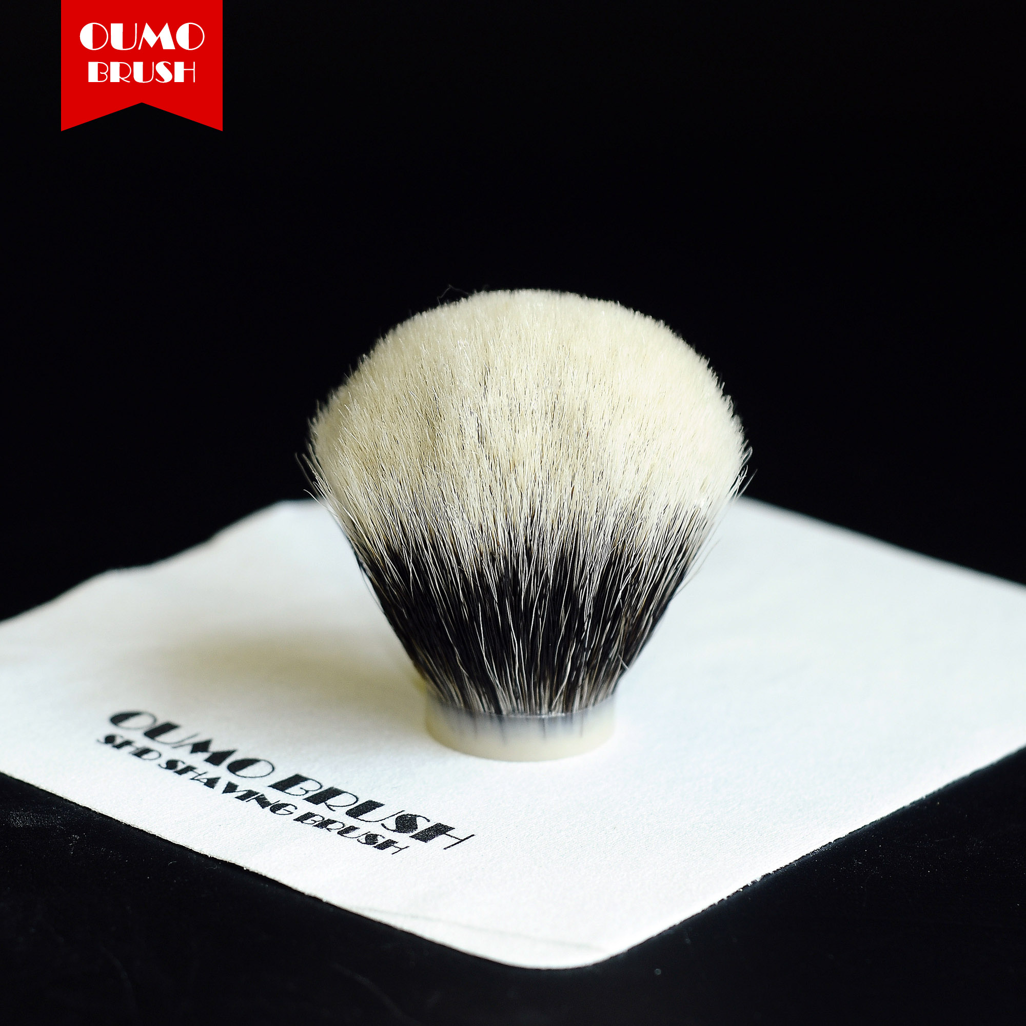 OUMO BRUSH- Bulb SHD Handmaster Finest  Badger Hair Knot Shaving Brush Knots Gel Tip