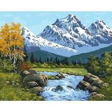 Gatyztory пейзаж живопись по номерам полный набор diy Рисование