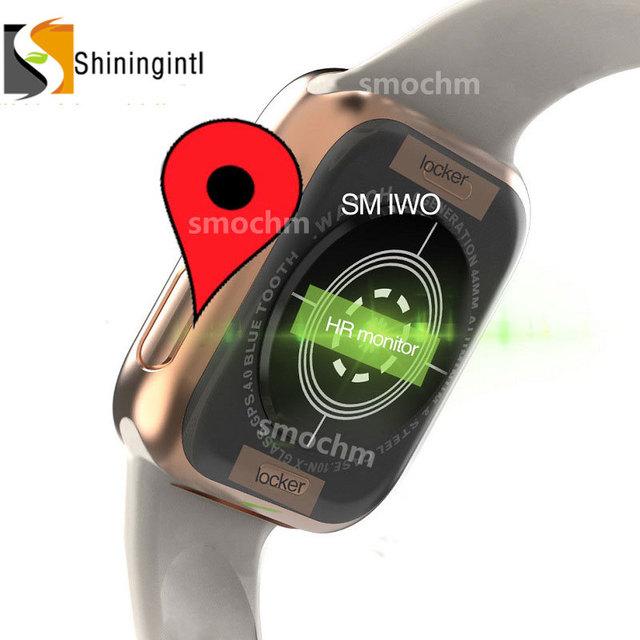 Smochm IWO 10 New Wireless Charger MTK2503 GPS Sports Smart Watch 4 44MM MTK2502 IWO 9 Upgrade for Apple Watch Iphone Andriod