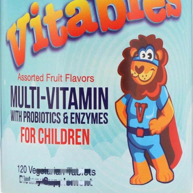 Children's Compound vitamin, Multi Probiotics and Enzymes, Fruity, 120 pieces
