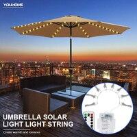 LED şemsiye lamba 8 modu uzaktan kumanda su geçirmez bahçe şemsiyesi lamba LED dize ışık esnek dekor parti ışığı açık hava aydınlatması
