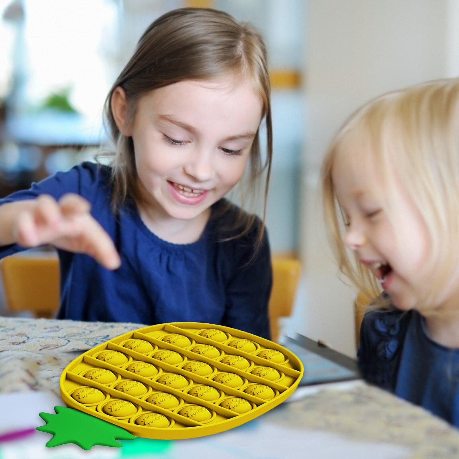 Купить 1 шт ананас форма спиннеры стресс игрушки пуш ап пузырь непоседа