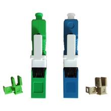 Conector de Fibra óptica H 07, conector rápido SC APC UPC, adaptador de Fibra SC FTTH, modo único, 100 Uds.