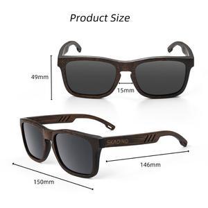 Image 5 - SKADINO gafas de sol polarizadas de madera de bambú para dama, lentes de sol polarizadas con protección UV400, a la moda, en color negro y gris, hechas a mano