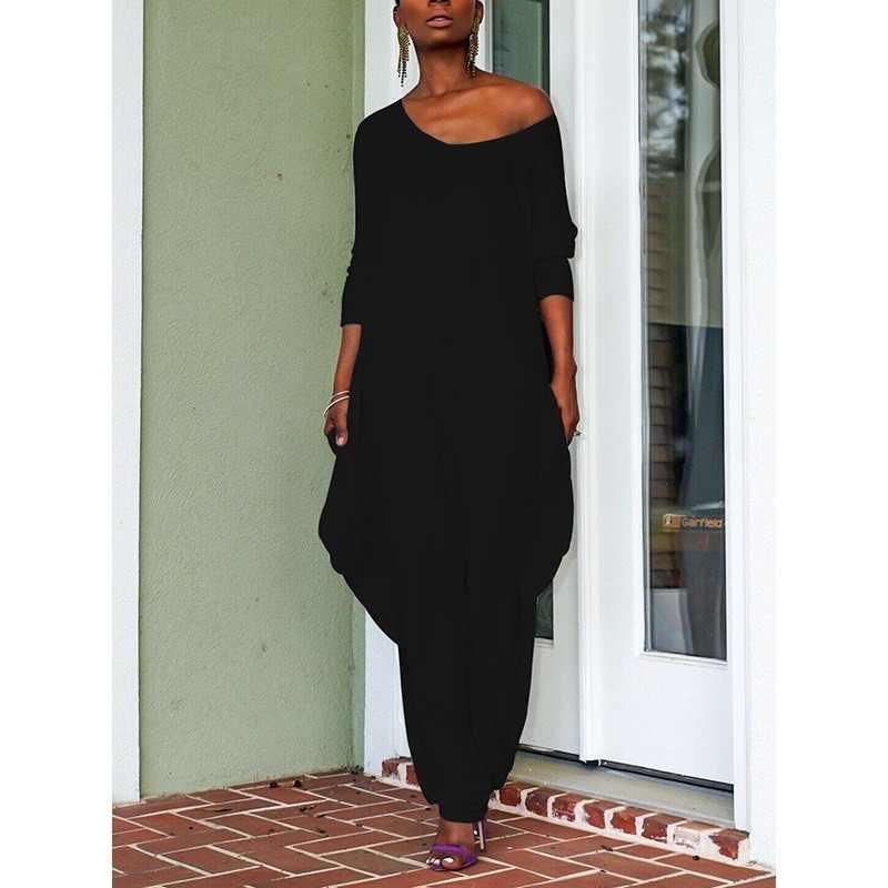 2020 Neue Plus Größe Mode Schwarz Weiß Overalls für Frauen Casual Sexy Breite Bein Hosen Hohe Taille Lange Hosen Overall overalls