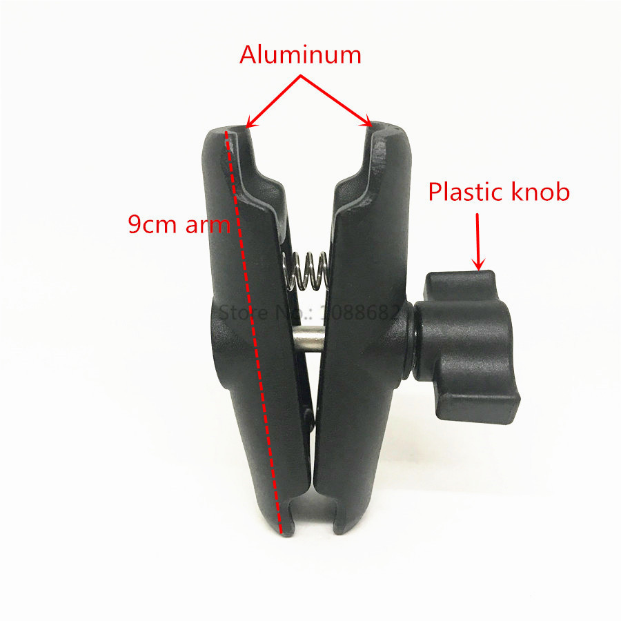 9cm Double Socket Arm 1 Inch Ball Mount (4)