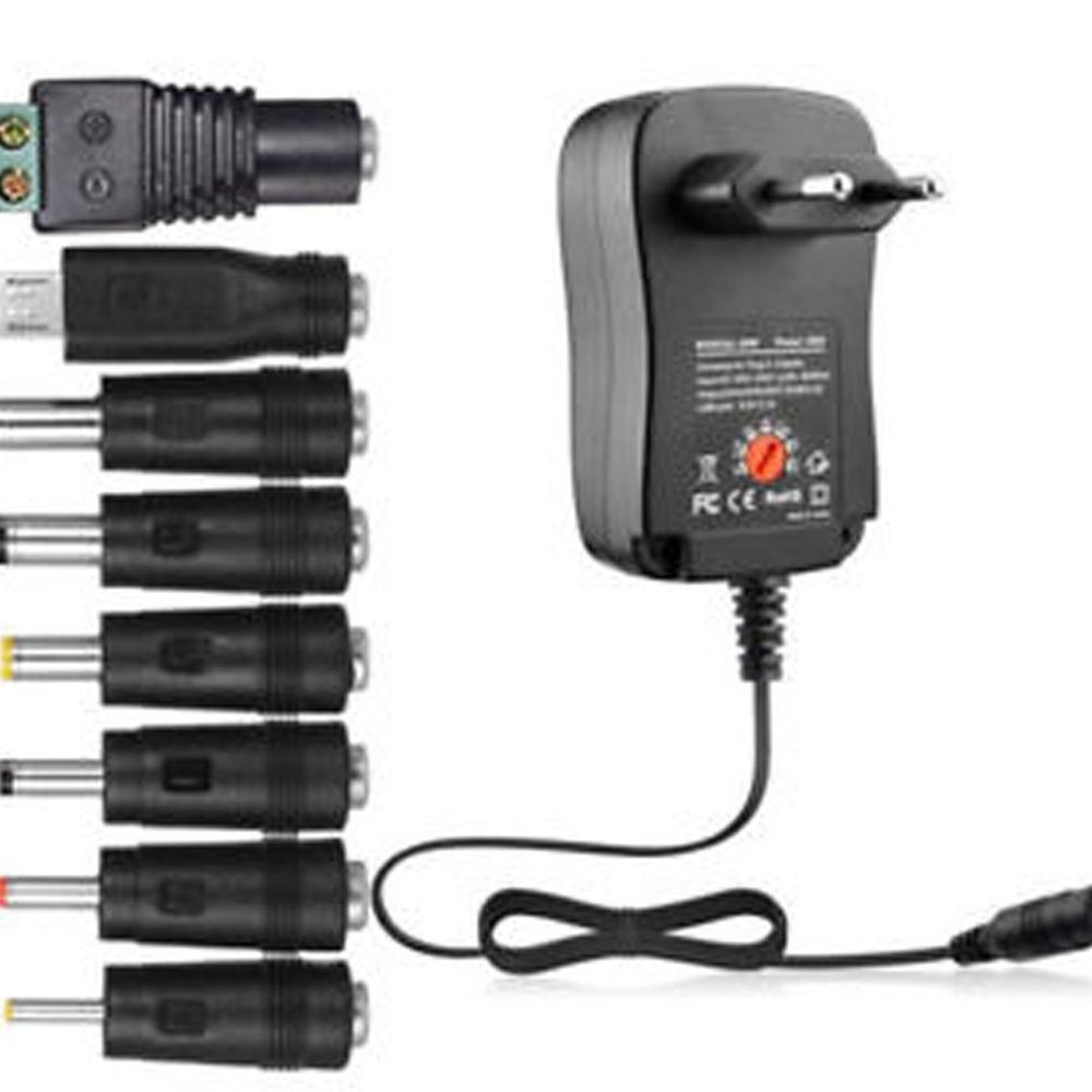 30W Power Supply Universal Adapter AC/DC 3V/4.5V/6V/7.5V/9V/12V 1.5A Adjustable