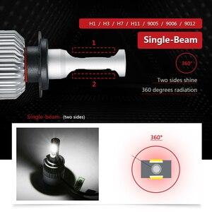 Image 4 - S2 H7 H11 H1 H3 9005 9006 COB Auto LED Scheinwerfer Lampen H4 Hallo Lo Strahl 72W 8000LM 6500K/4300K Auto Scheinwerfer Led Auto Licht 12V