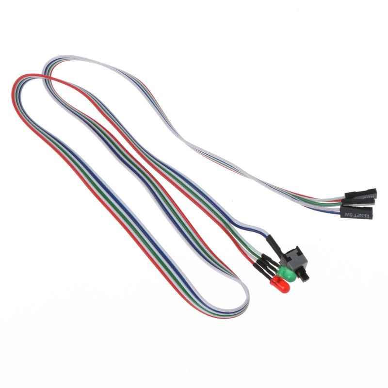 حالة سطح المكتب ATX السلطة على إعادة تعيين التبديل مع كابل HDD مصباح ليد ل جهاز كمبيوتر شخصي