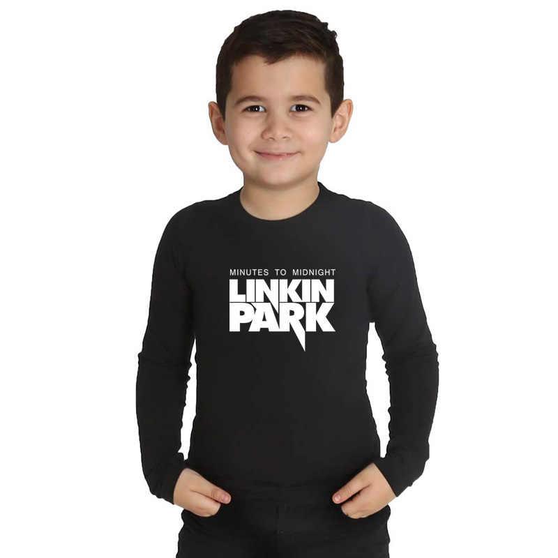 LYTLM Linkin Park Camiseta Tshirt z długim rękawem Baby Boy Rock koszulki z krótkim rękawem dla nastolatków Streetwear dzieci topy dla dziewczynek dla dzieci ubrania