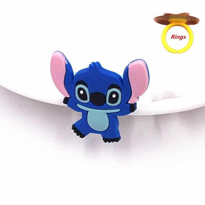 1 pçs dos desenhos animados anime monstro vingadores anel adorável amadeirado estrangeiro charmander batman ícone silicone bebê dedo anéis menino trinket presentes