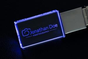 Image 5 - With LED Light Custom Logo Crystal USB Flash Pen Drive 4GB 8GB 16GB 32GB USB2.0 for Gift Pendrive Stick(Over 10pcs Free Logo)