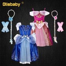 Doornroosje Zomer Meisje Party Aurora Dress Halloween Cinderella Kostuum Peuter Meisje Prinses Jurk Kids Europese Kleding