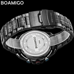 Image 5 - Boamigo 최고 럭셔리 브랜드 남자 스포츠 시계 군사 패션 비즈니스 철강 디지털 쿼츠 시계 선물 시계 relogio masculino