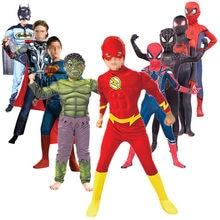 Los niños carnaval Halloween Disfraces Cosplay Anime fantasía araña Niño/niña medias puño Hulk accesorios