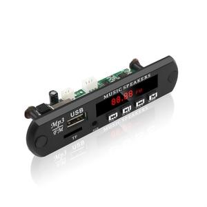 Image 4 - Tablero decodificador MP3 WMA WAV sin Bluetooth, reproductor MP3, Audio para coche, USB, TF, FM, módulo de Radio, 5V, 12V, con Control remoto para coche