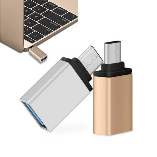 1 adet C dönüştürücü USB-C tip-c Otg USB 3.0 dönüştürücü adaptör yüksek hızlı veri transferi konektörü bilgisayar samsung klavye