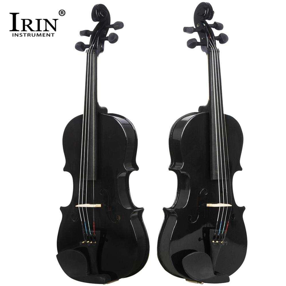 IRIN Full Size Violin 4/4 1/8 Size Basswood Solid Wooden Material For Student Beginner With Violin Accessories Set