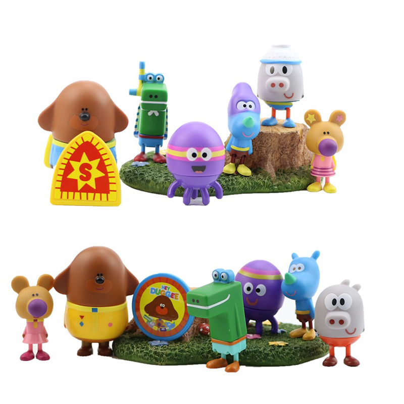 Kid Toys Anime Duggee Figure Toys Hey Duggee Rhinoceros Wombat Octopus Alligator Hippo PVC Action Figure Animal Model Doll Gifts image