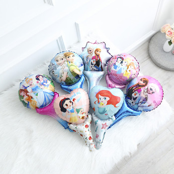 10pcs Princess Hand Foil Balloons Girl Lovely Stick Globos Birthday Party Decorations Baby Kids Toys Wedding Party Supplies 10pcs self ink stamps kids party favors event supplies drawing toys for birthday party toys boy girl stamps toys