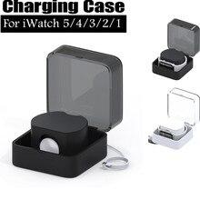 Смарт-часы зарядное устройство смарт-часов портативное хранение зарядных устройств коробка подставка Док-станция держатель для Apple Watch серии 5 часов