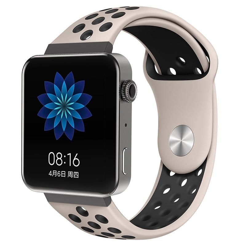 Мягкий силиконовый ремешок для часов для xiaomi smart watch, новинка, сменный ремешок для mi watch, резиновый ремешок для часов, аксессуары - Цвет: 8068