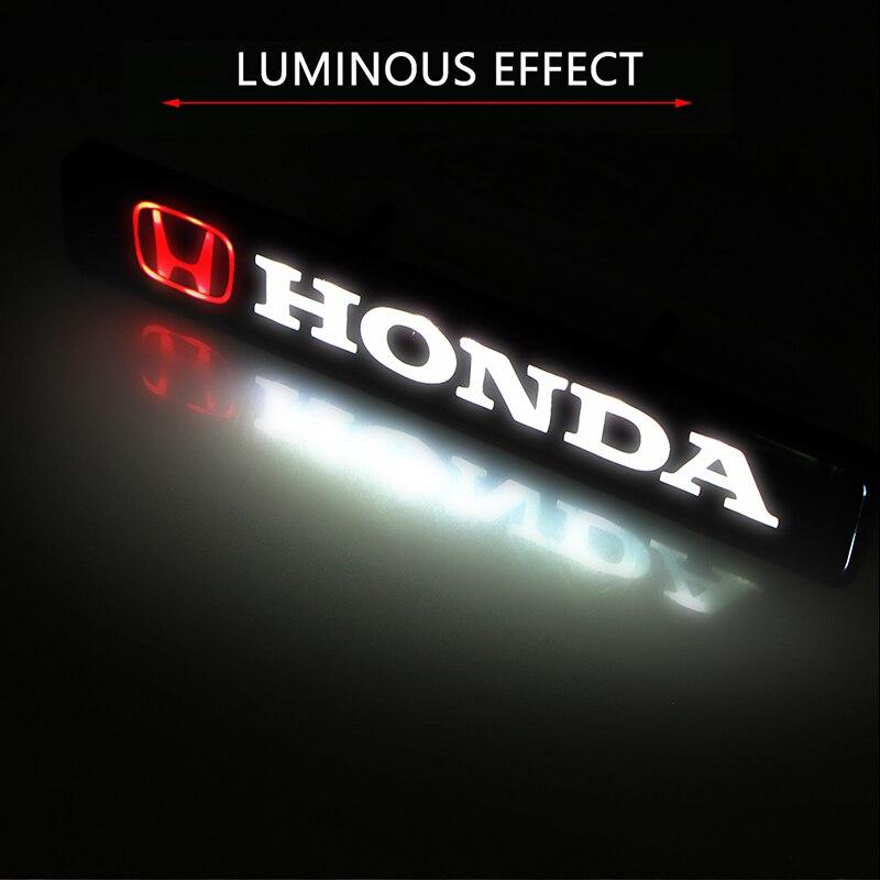 สติกเกอร์รถด้านหน้า Grille Emblem LED ไฟตกแต่งสำหรับ Hondas CBR300RR CBR600RR CBR1000RR CBR500R CBR650F VFR800 1200