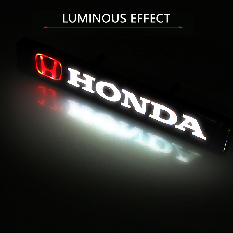 Car sticker front hood grille emblem LED decorative lights for Hondas CBR300RR CBR600RR CBR1000RR CBR500R CBR650F VFR800 1200