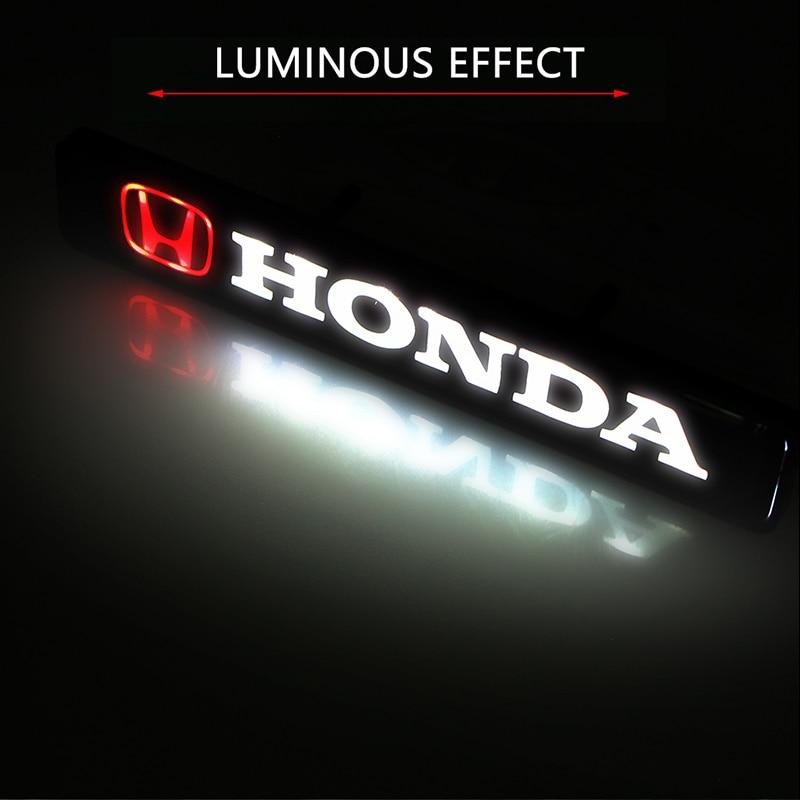 Etiqueta do carro frente capa grille emblema led luzes decorativas para hondas cbr300rr cbr600rr cbr1000rr cbr500r cbr650f vfr800 1200