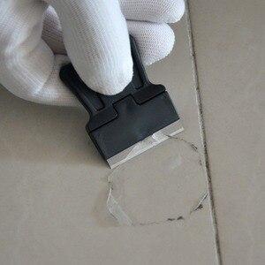 Image 2 - EHDIS – lame de raclette de nettoyage de voiture, en Fiber de carbone, en acier, vinyle, grattoir, verre, colle, autocollant, outil de teinte de fenêtre, 3 pièces, 100 pièces