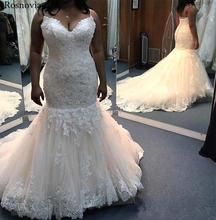Свадебное платье на бретельках с открытой спиной и кружевной