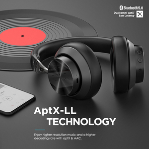 Image 2 - Mixcder E10 Wireless Headphone AptX Low Latency With Micro USB Bluetooth5.0 ANC Deep Bass Music Gaming Over ear Headset