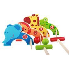 Мультяшные животные Крокет Детские деревянные игрушки семья