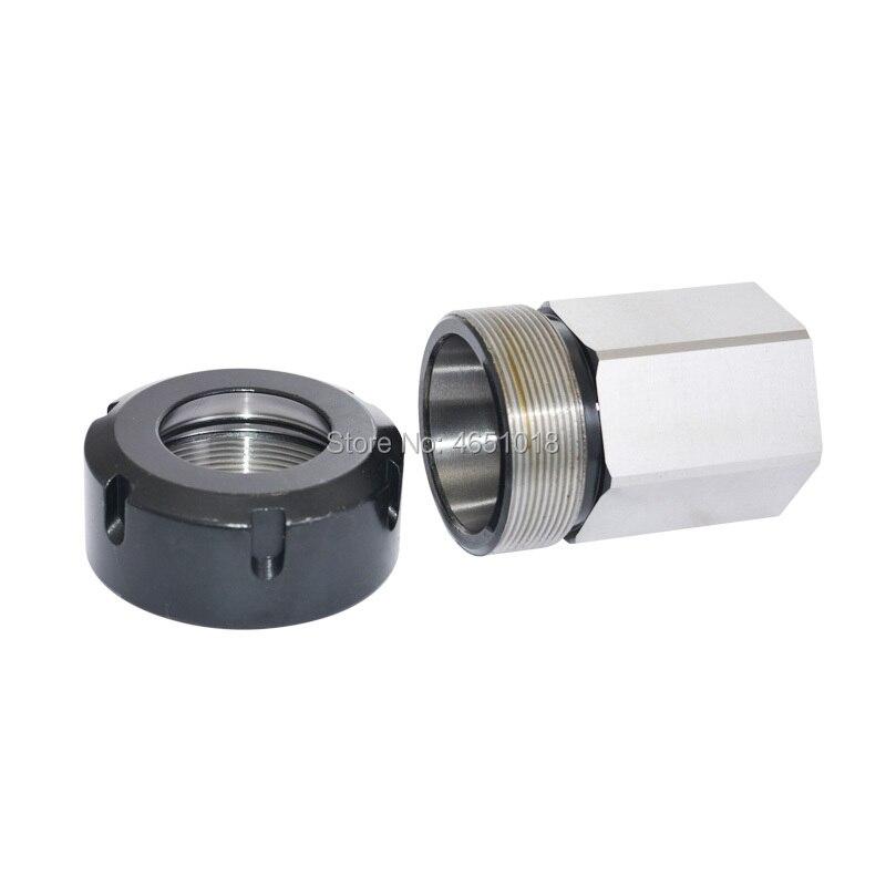 Купить с кэшбэком 1PCS Spring Chuck Collet Holder Hex ER32 ER25 Collet Block 45x65mm For Lathe Engraving Machine