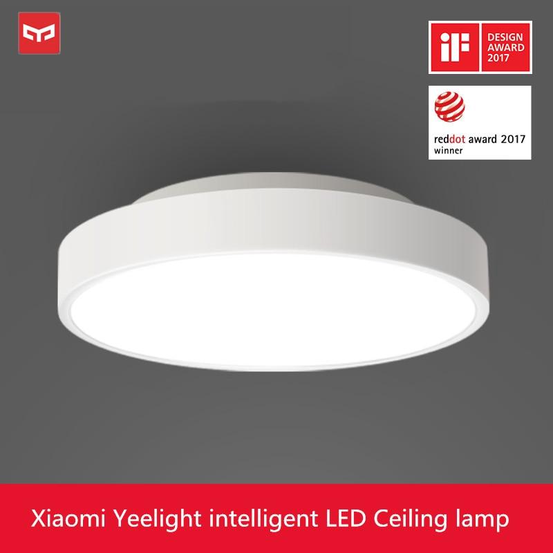 2019 nova original xiao mi yeelight inteligente luz de teto lâmpada controle remoto mi app wifi bluetooth inteligente led cor ip60 dustproof