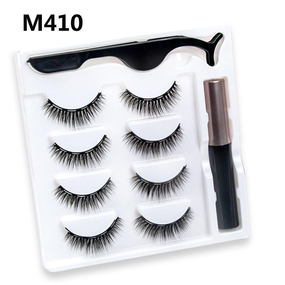 4 pares de magnetico cilios posticos eyeliner 04