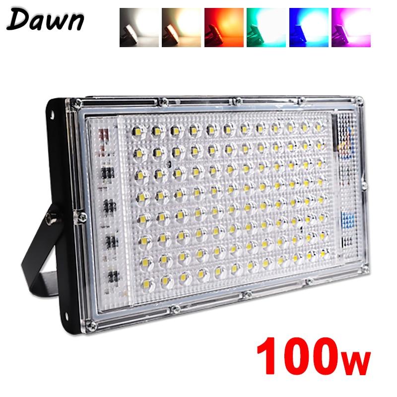 Светодиодный прожектор 50 Вт 100 Вт Светодиодный прожектор холодный теплый RGB ac220в 240 В светодиодный уличный фонарь Водонепроницаемый IP65 Свето...