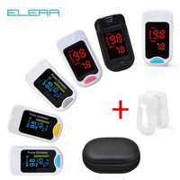 Oxímetro de pulso de dedo portátil ELERA con caja Digital oxímetro de pulso de dedo pantalla OLED saviometro Pulsioximetro