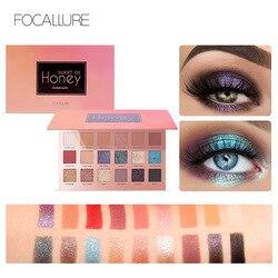 Focallure brokatowy cień do powiek 18 kolorów pigmentowy paleta cieni do powiek wodoodporny łatwy w noszeniu Shimmer Make up Eyeshadow