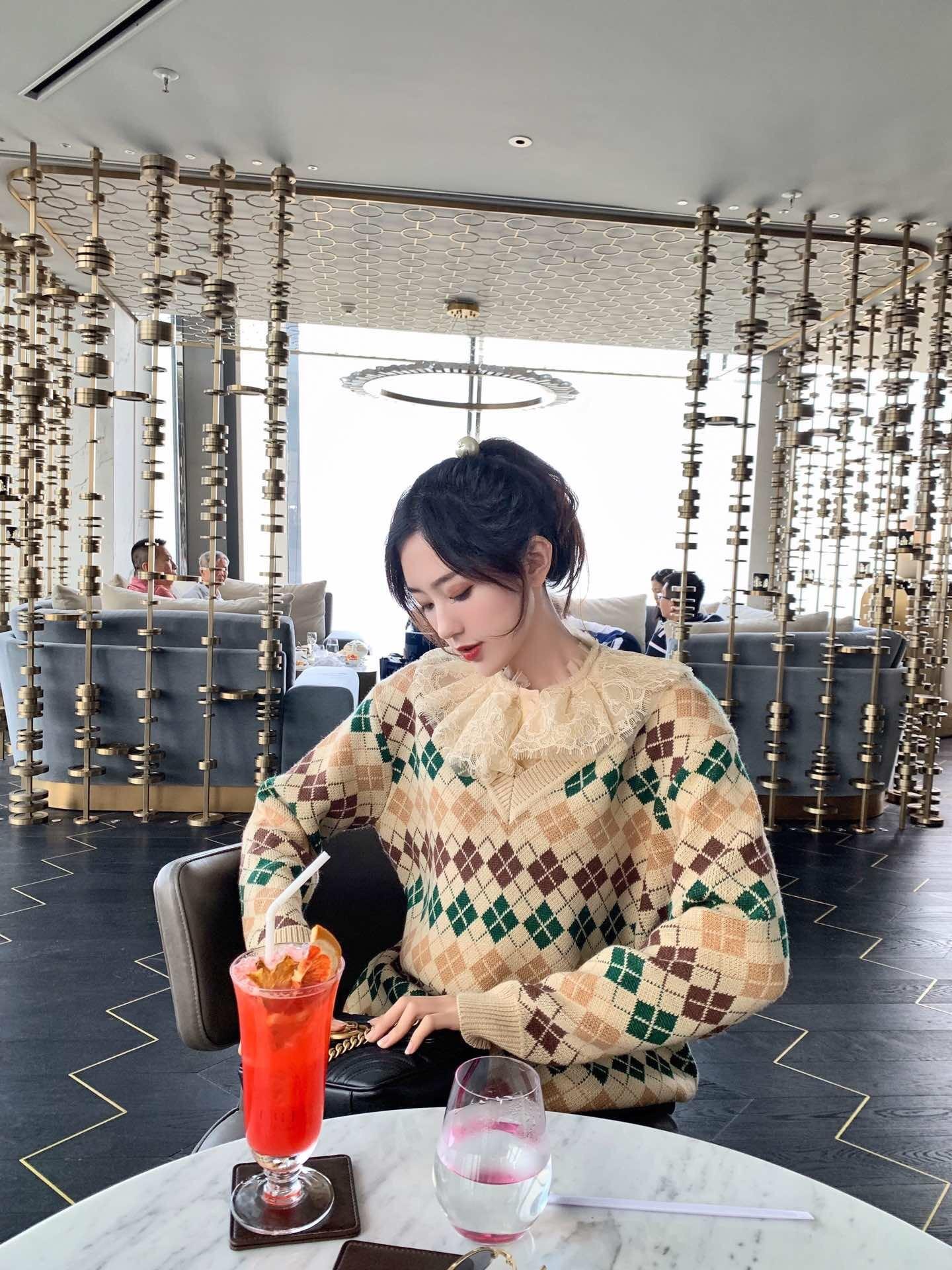 2019 neue Casual Herbst und Winter V ausschnitt Klassische Rot & Grün Weihnachten Pullover Frauen Pullover - 5