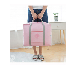 цена на Trolley Travel Bag Foldable WaterProof Oxford Travel Bag Unisex Luggage Travel Duffle Large Capacity Bag Women Folding Handbags