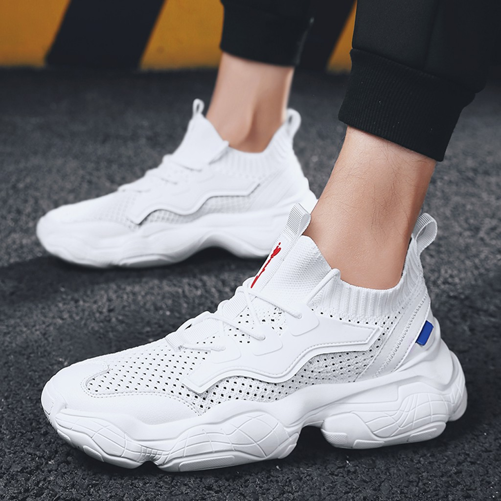 Men's Vulcanized Shoes Male Sneakers 2019 Fashion Summer Air Mesh Breathable Wedges Sneakers For Men Plus Size 39 44 buty meskie